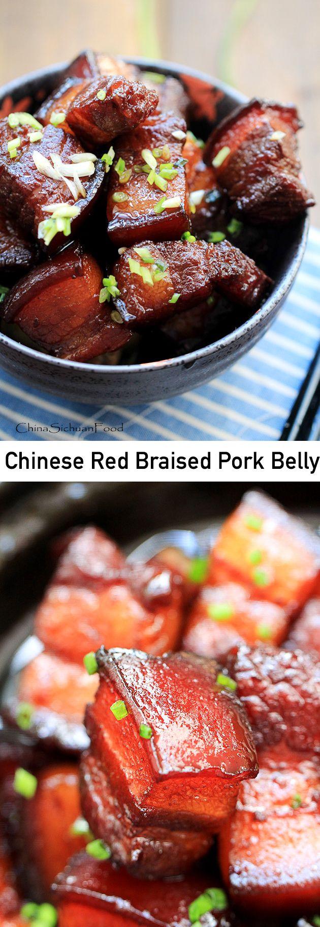 Chinese red braised pork belly--#Chinese #HongShaoRou