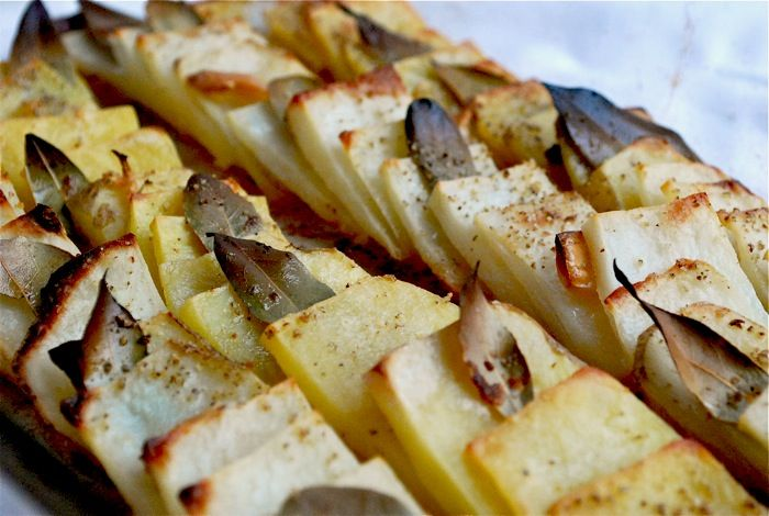 Domino Potatoes, via The Family Kitchen on Babble. Potatoes, bay ...