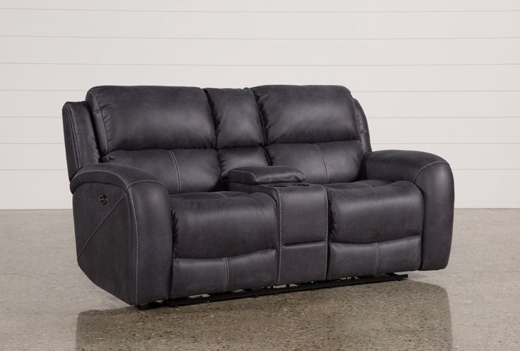 Get your daily dose of deluxe with our Deegan power reclining loveseat, which is designed with complete comfort in mind. In addition to easy-care high-performance upholstery now available in 2 colors, it features a center console with cupholders, storage, 2 power outlets and 2 USB ports, as well as innerspring foam cushions, plush headrests and channeled backs for enhanced lumbar support. Contrast stitching, additional USB ports and lay-flat mechanisms are extra special details.