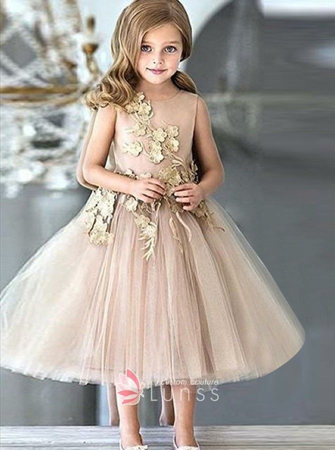 Tulle Dresses wedding Pageant Cute Toddler Christmas bridesmaid children Floral