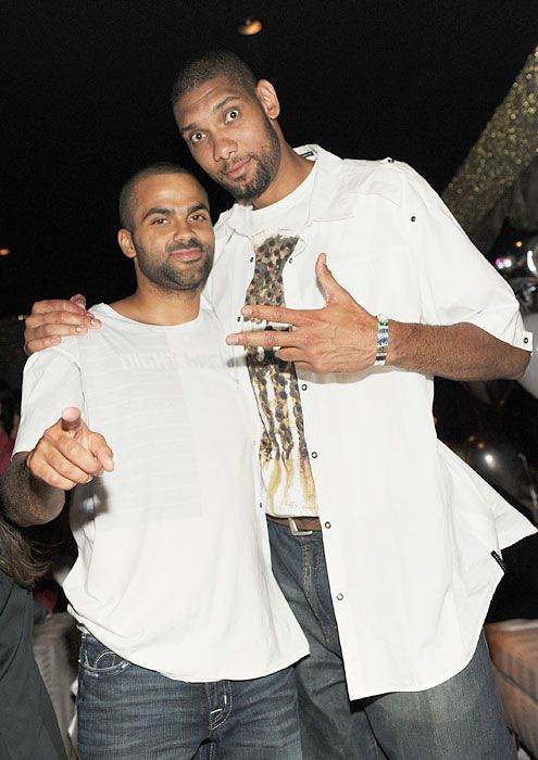 Tony Parker and Tim Duncan: 2013 Nba, Timduncan, Tim Duncan San, Tim Duncan Letting, Duncan San Antonio, Photo Galleries, Rare Photos, Antonio Spurs, Tony Parker