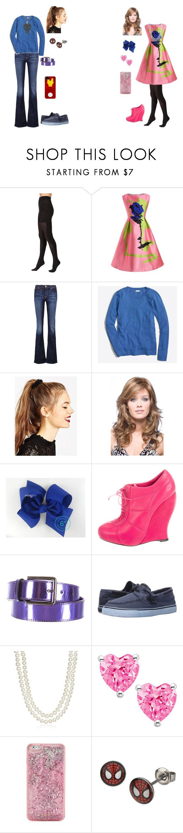 """""""Girly Girl vs Tomboy: Hospital outfits"""" by sierra-ivy on Polyvore featuring SPANX, 7 For All Mankind, J.Crew, ASOS, Nina Ricci, Ports 1961, Sperry, Honora, ban.do and Marvel"""