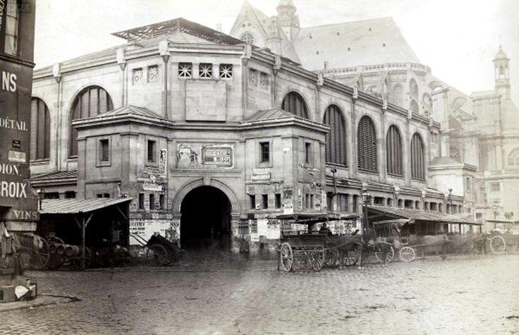 Charles Marville - 1866 - - Paris - pavillon des Halles centrales