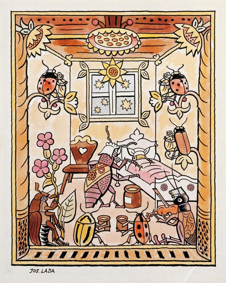 Josef Lada - Pohádka o zlaté mušce (1928)