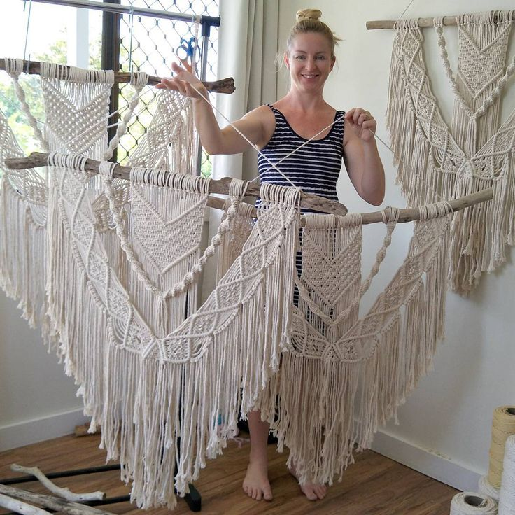 The big version of destiny (online now, $120!) orders must be in this week if you want something to arrive for Xmas,  jump online now so you don't miss out.  #macrame #macramewallhanging #wallhanging #decor #homeandliving #interiordecor #interiordesign #interiorstyle #modernboho #modernhome #makersgonnamake #makersvillage #makeartnotwar #handmadehome #handmadegifts #handmade #bohodecor #boho #bohemiandecor #scandi #etsyau #madewithlove #creativelife #dreamersanddoers #fibreart…