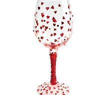 Lolita Wine Glass Red Hot Tini. A great way to start your collection of lolita wine glasses with this beauty!