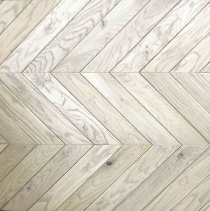 herringbone wood floor in a driftwood grey... my heart!