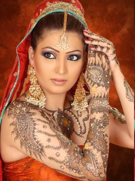 Mehndi Makeup Facebook : Best images about latest arabic mehndi designs for