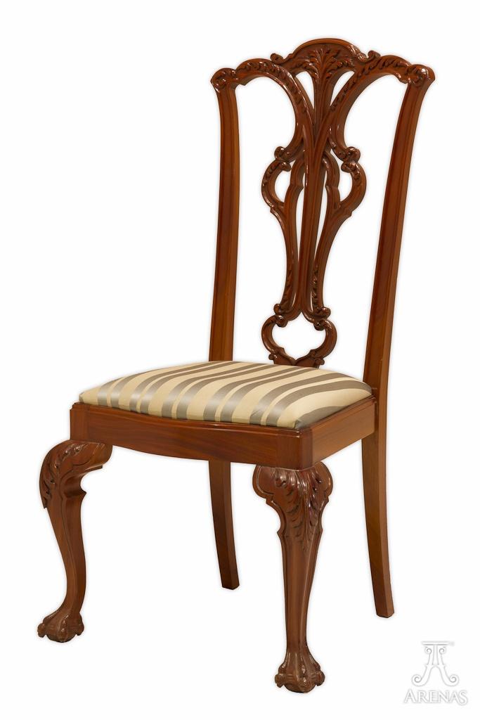 Silla Chippendale . Mobiliario de madera de lujo diseño exclusivo Ebanistería Arenas // Chippendale Chair. Wooden luxury furniture by Arenas Joinery
