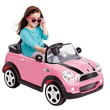 avigo 6 volt mini cooper ride on pink toys r us toys