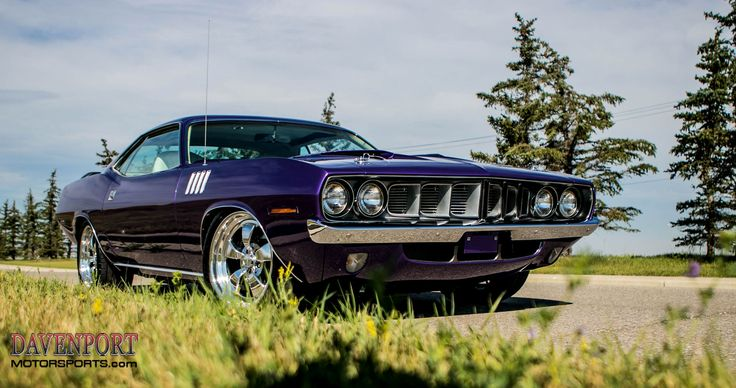 "How do you maintain a classic look on your pro-touring project, but still clear your big disc brakes and accommodate the larger sizes of modern performance tires? Our friends at #DavenportMotorsports recently equipped their ""Plum Crazy"" 1971 #Plymouth #Barracuda with Baer brakes, Michelin Pilot Super Sport tires, and these 18x9/19x10 #Forgeline Heritage Series #CR3 wheels finished with Polished & High-Gloss Clear Coated centers and outers!"