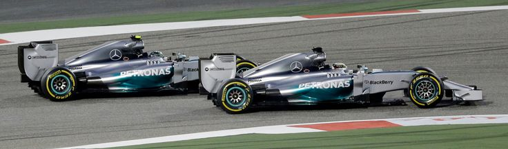Lewis Hamilton passes his Mercedes-Benz teammate, Nico Rosberg, on the first lap of the Bahrain Grand Prix. Formula One's New-Age Hybrids Find Their Footing - NYTimes.com