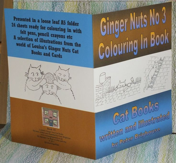 Ginger Nuts Third Colouring In Book children's #cats @LulusGingerNuts