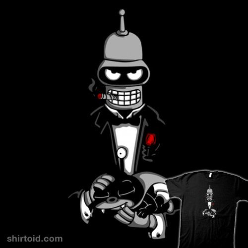 The Botfather #bender #film #futurama #melonseta #movie #nibbler #robot #thegodfather #tvshow