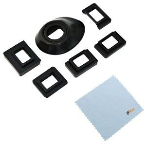 GTMax Universal Eyecup Eye Cup Eyepiece with 5 Adapters + Cleaning Cloth for Canon Nikon Pentax Olympus Fujifilm DSLR / SLR Cameras - http://electmecameras.com/camera-photo-video/accessories/binocular-accessories/gtmax-universal-eyecup-eye-cup-eyepiece-with-5-adapters-cleaning-cloth-for-canon-nikon-pentax-olympus-fujifilm-dslr-slr-cameras-com/