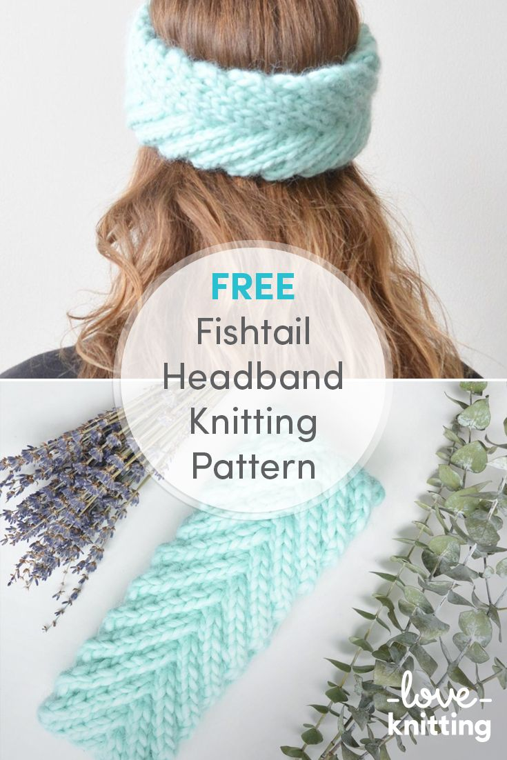 FREE Fishtail Braided Headband Pattern. This braided headband pattern uses super bulky yarn making for a quick knit that makes a beautiful and cozy gift. Find the free pattern at LoveKnitting.com!