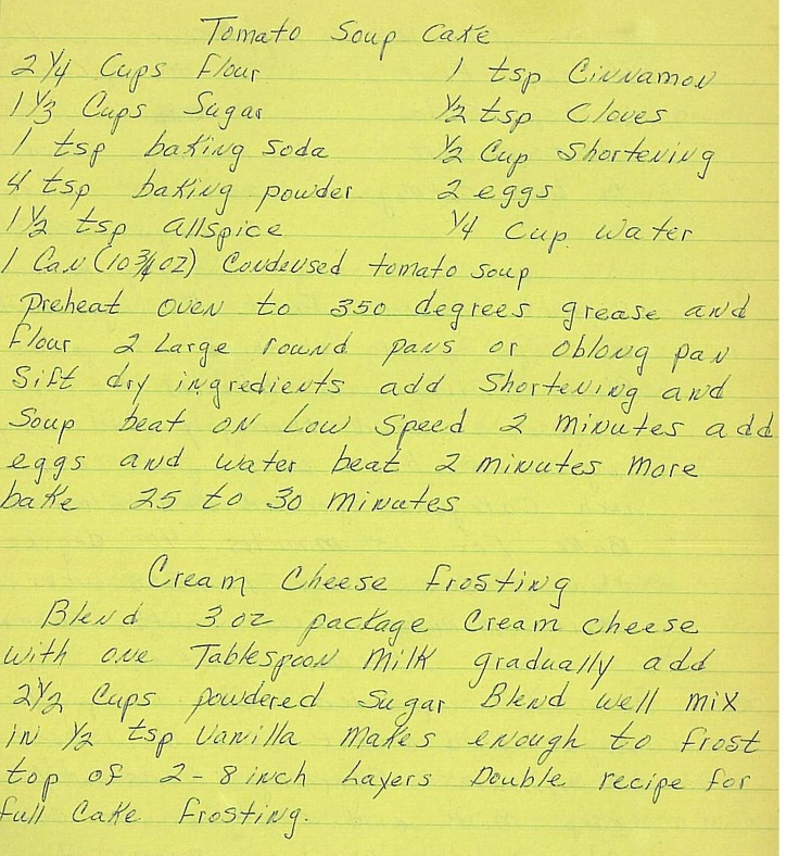 Bakeaholic Mama: My Grandmother's Tomato Soup Cake (aka Spice Cake) Breast Cancer Awareness Post