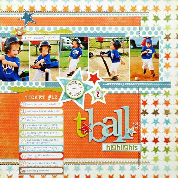tball scrapbook page