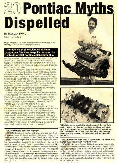 20 Pontiac Myths Dispelled