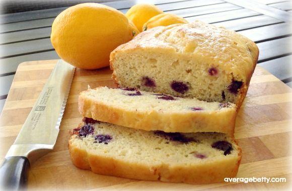 Lemon Blueberry Bread Recipe from @averagebetty