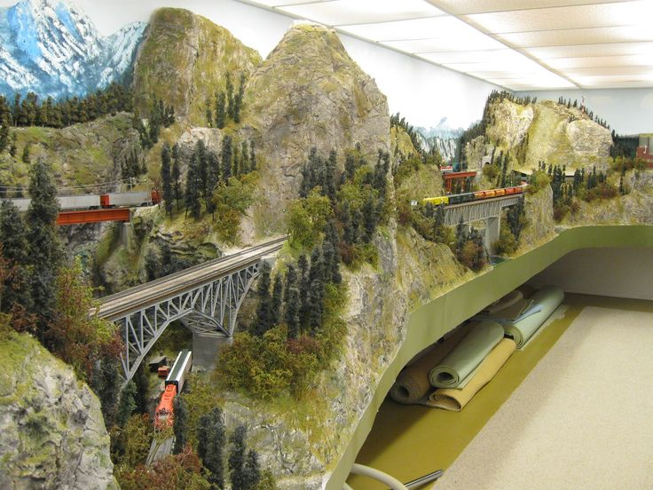 model train mountain scenary | model layout a to sq model for hardscapes various create