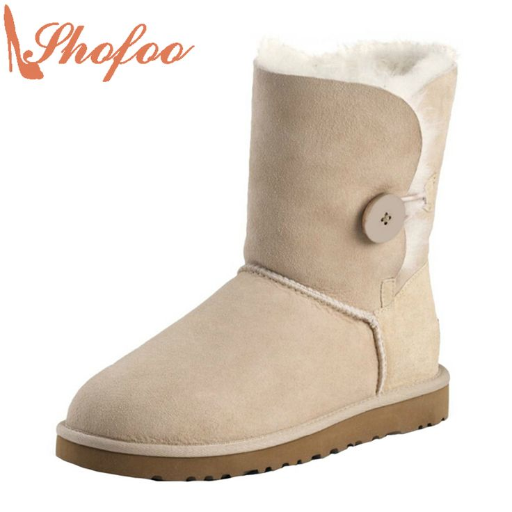 >> Click to Buy << SHOFOO High Quality Women Fashion 2017 Winter Casual Warm Woman Flat Boots Shoes Botas Nieve Mujer Handcraft Latest Size 43 #Affiliate