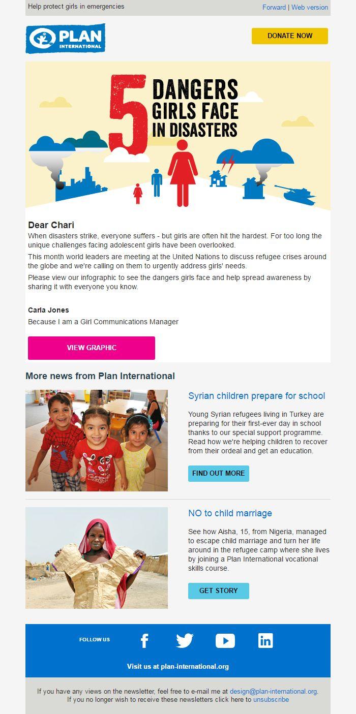 Plan International: 5 dangers girls face in disasters