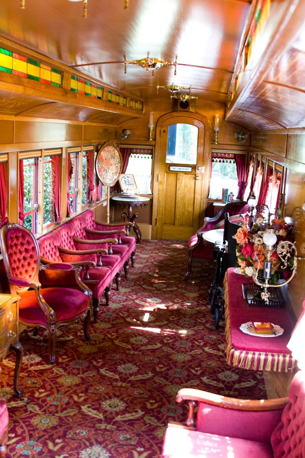 Ride the Lilly Belle Presidential train car at Disneyland. I went in here! It was AMAzing!! I got to see Walt Disney's wife,Lillie,'s dress and gloves! Plus I got to sign the guest book! Many movie stars have rode in this train(: <3