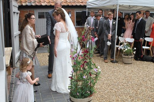 Photos from a recent Wedding ceremony at this romantic Barn in SUffolk - Brick Kiln Barn, Sibton Check it out here http://www.suffolkweddingsguide.co.uk/Saxmundham/Brick-Kiln-Barn-1619.asp