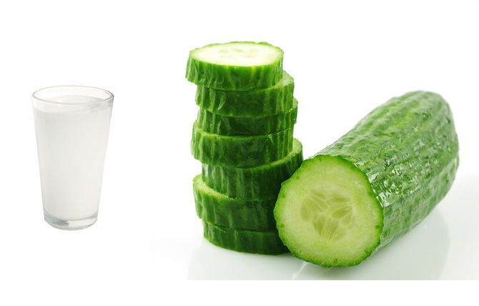 cucumber and milk cleanser for smooth skin