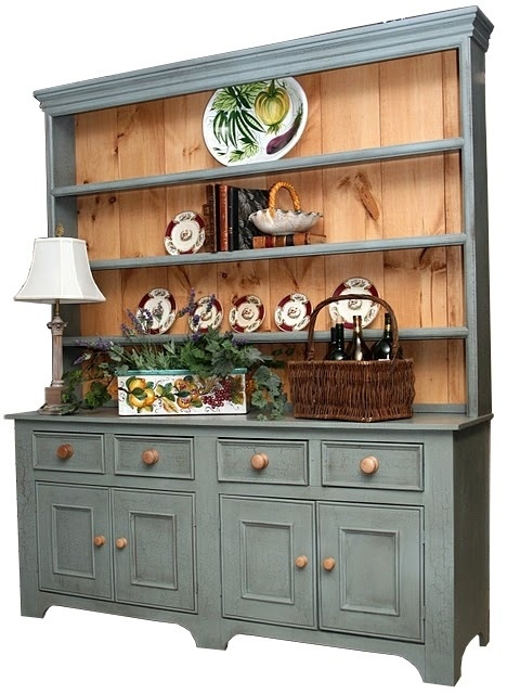 Picture Of British Traditions 6 Ft. Country Sideboard W 4 Drawers U0026 3 Tall  Shelf Hutch (Buffet Hutch Combo) I Like This One Too!