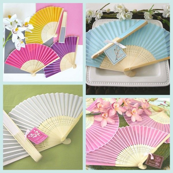 Colored Silk Fan Favors from HotRef.com