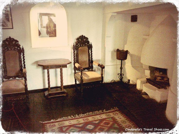 The furniture inside of Bran castle