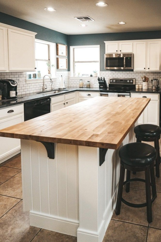 This Kitchen Island Is So Unique I Love The Paneling On