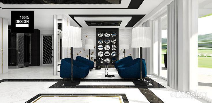 Hotel KONTRAST | Projekt lobby w hotelu