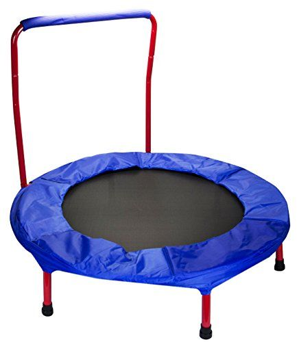 """Black Friday 2014 Red Portable and Foldable 36"""" dia. Durable Construction Safe Trampoline with Padded Frame Cover and Handle from 2PO Cyber Monday"""