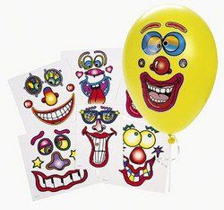 Balloon Face Stickers (Six different faces) by Fun Express. $4.99. Six different faces. Balloon Face Stickers. Makes 6 different balloon faces. Note: stickers add weight to helium-filled balloons and may reduce float time. Balloons not included.