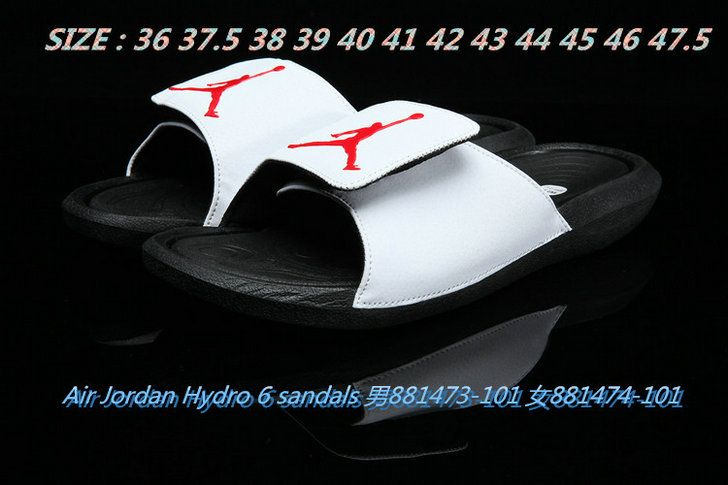 7c05d2820 2018-2019 Summer Authentic Official unisex Air Jordan Hydro 6 sandals slide  slipper white-black Big Size 13