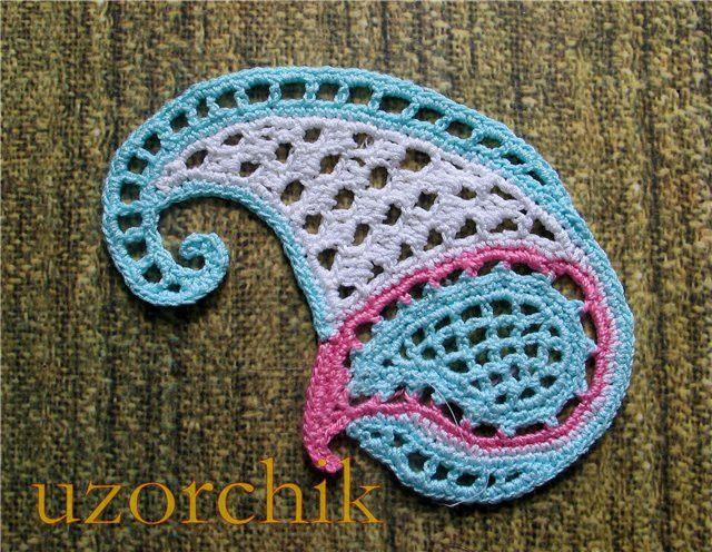 Free Crochet Paisley Motif Pattern : 86 best images about Crochet: Patterns: Motifs on ...