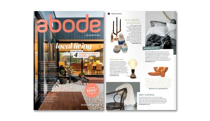 Chain Gang's throw is featured in Abode magazine this month! Check it out at  http://www.abodemagazine.co.nz/View-ABODE-magazine-online.aspx