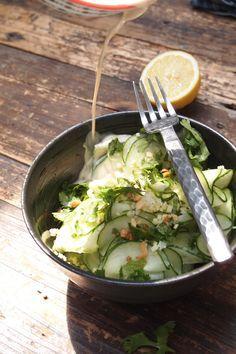 Salade de concombre Thaï coco et gingembre / paris dans ma cuisine