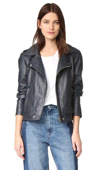 """Oak LA Rebel Leather Jacket in """"Dusk"""""""