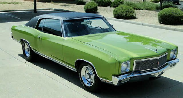 1971 Monte Carlo Lime Green Black Vinyl Top Chevrolet Monte Carlo Cool Old Cars Classic Cars Muscle