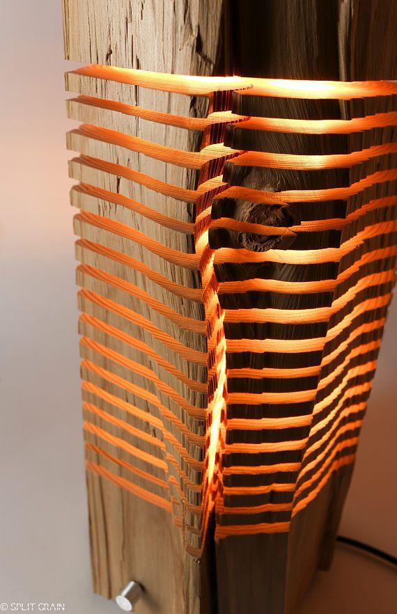 Light Sculpture Reclaimed Wood Art
