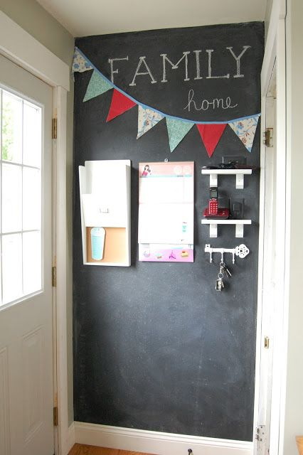 Vintage Violet Style: Family Command Center and Chalkboard Wall