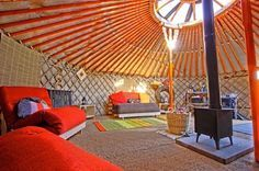 These yurts are *super* luxurious.