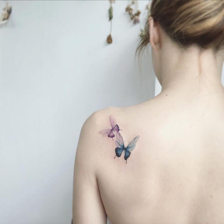 les 25 meilleures id es de la cat gorie tatouage papillon aquarelle sur pinterest tatouages de. Black Bedroom Furniture Sets. Home Design Ideas