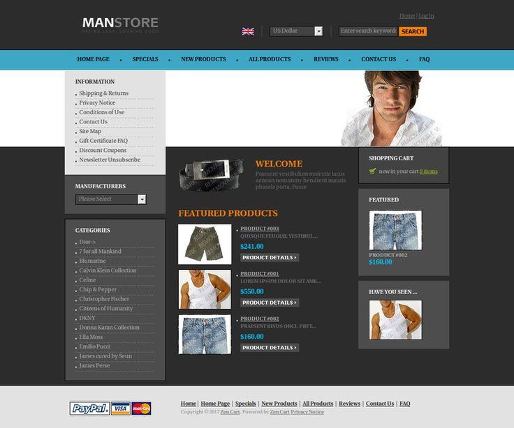 Mejores 118 imágenes de Zencart - Plantillas web responsive en ...