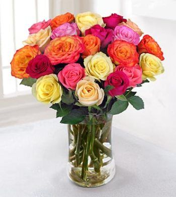 Rose Wedding Bouquets | Multi-colored Rose Bridal Bouquets ...