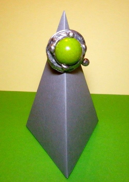 http://megasilver.pl/Pierscionek-p295 #ring #metalwork #handmade #green #howlite #stone #jewelry